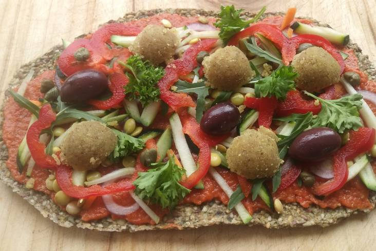 Plantaardige Pizza Marinara van Crudo | Crudo