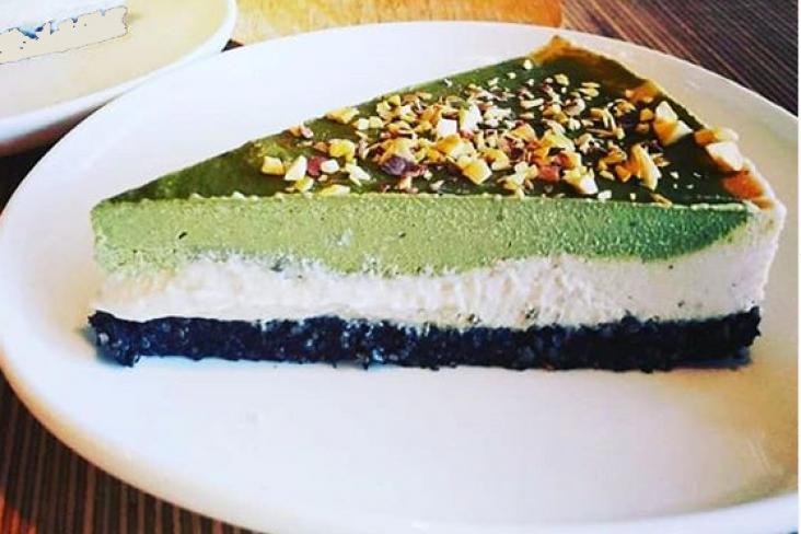 Matcha Creamcheesetaart van Crudo | Crudo